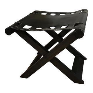Modern Promemoria Leather Stool For Sale