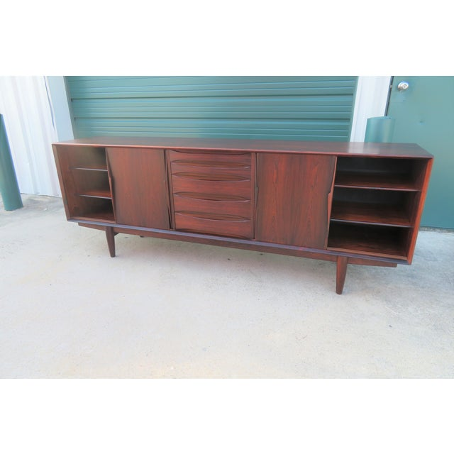 1960s 1960s Mid-Century Modern Rosewood Vodder or Omann Style Sideboard For Sale - Image 5 of 8