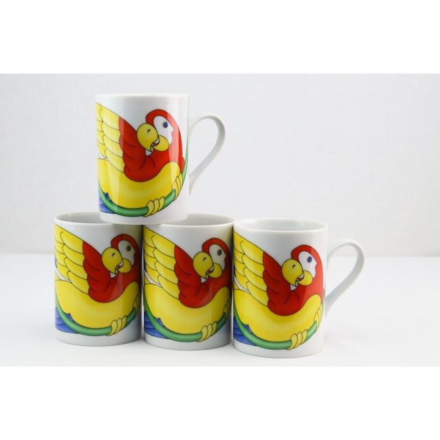 Fitz & Floyd Parrot in Ring Coffee Mug - Set of 4 - Image 2 of 7