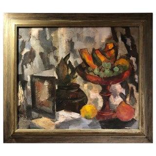 1960s Mid-Century Modern Still Life of Fruit by Scott For Sale