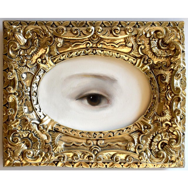 Metal Contemporary Lover's Eye Painting by S. Carson For Sale - Image 7 of 7