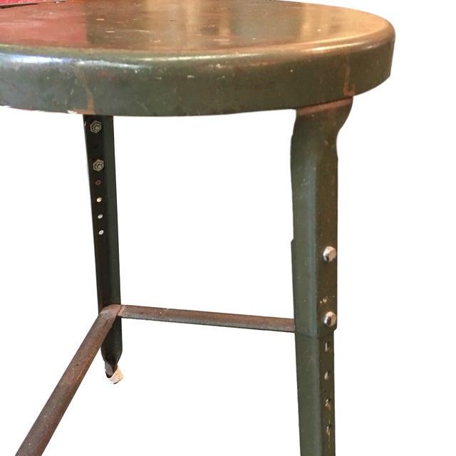 Vintage Industrial Metal Stool - Image 3 of 4