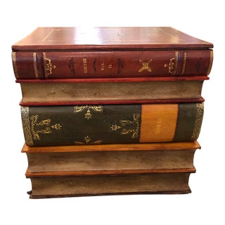 1980s Figurative Libraryish Trompe L'Oeil Book Motif End Table Chest For Sale