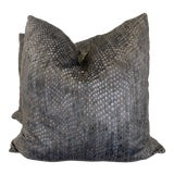 """Image of Ostrich Velvet 22"""" Pillows-A Pair For Sale"""
