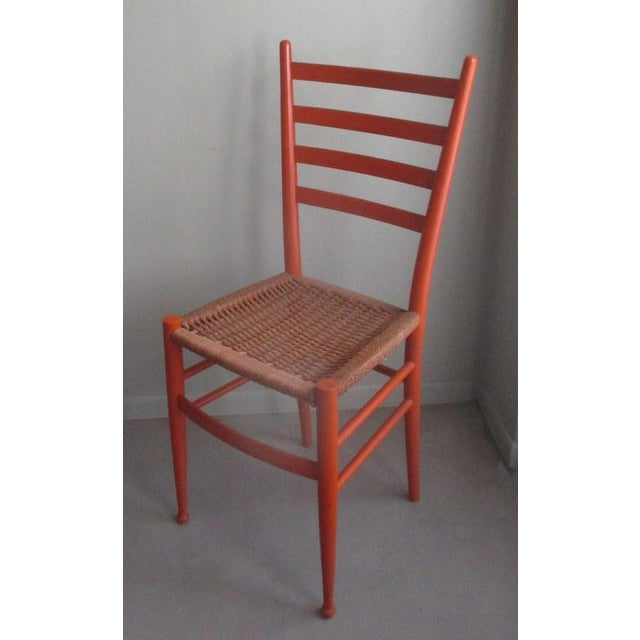 Contemporary Mid-Century Modern Gio Ponti Style Side Chair For Sale - Image 3 of 7