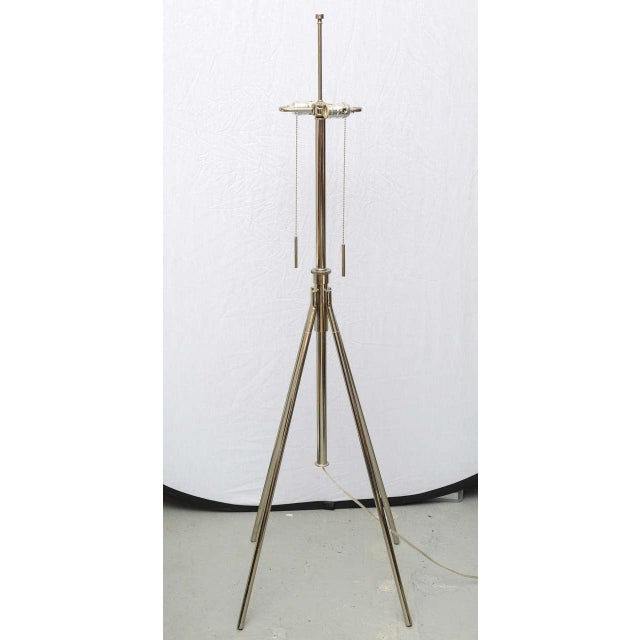Italian Chrome Floor Lamp, Italy 1975 For Sale - Image 3 of 9