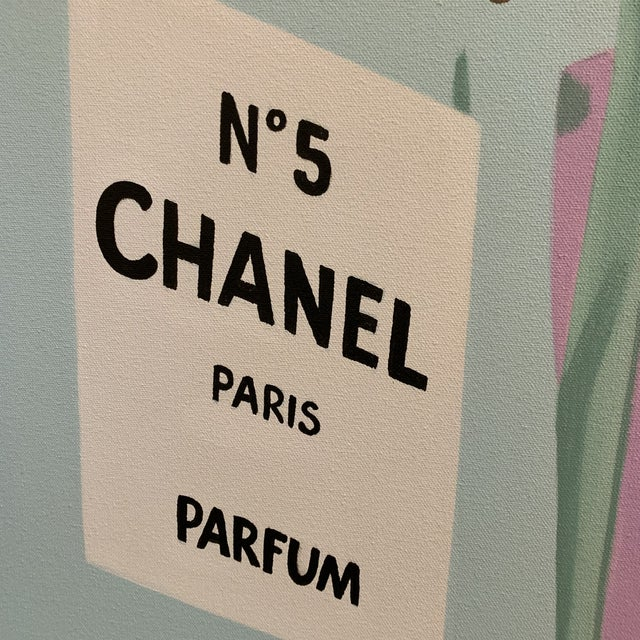 Andy Warhol Chanel Perfume Advertisement Framed Painting For Sale - Image 4 of 6