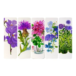 """The Violet Femmes"" - Illustrated Bookmarks - Set of 5 For Sale"