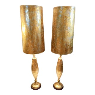 James Mont Camouflage Tall Lamps - a Pair