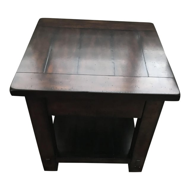 Pottery Barn Benchwright End Table Chairish - Pottery barn benchwright end table