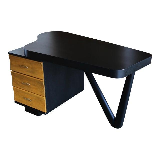 Rare Desk by Paul Frankl for Johnson Furniture, Circa 1950 For Sale