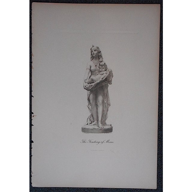 This charming 19th century steel engraving depicts Pharoh's daughter embracing the baby Moses. Please view our other...