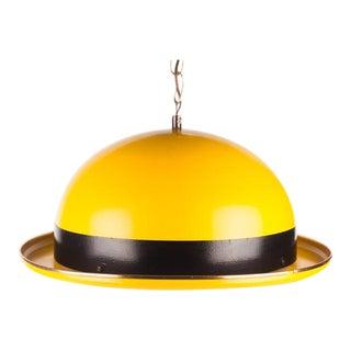 Large Vintage Danish Yellow Hat Pendant Lamp by Hans-Agne Jakobsson 1960s