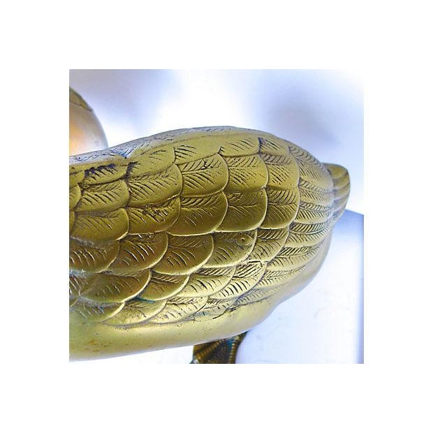 Vintage Large Cast Brass Ducks - Pair - Image 5 of 6