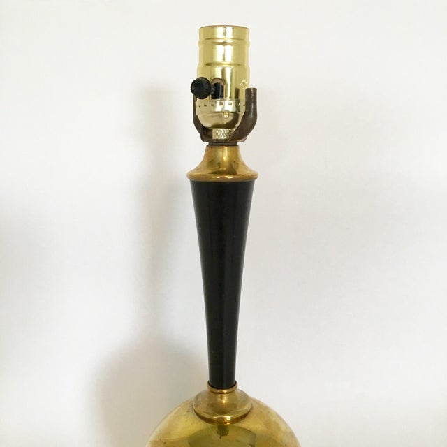 Mid-Century Brass Ball Lamp - Image 5 of 5