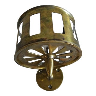 Early 20th Century Brass Bottle Holder Sconce Fixture For Sale