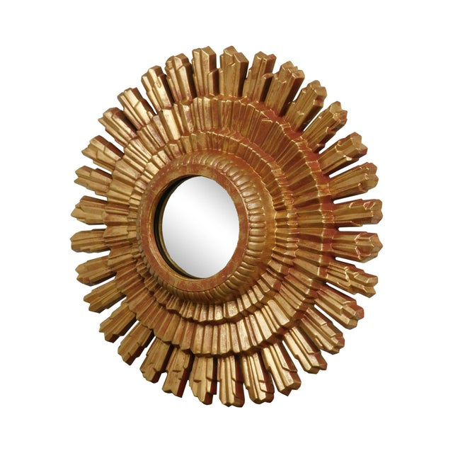 Small Gold Gilt Sunburst Mirror For Sale - Image 13 of 13