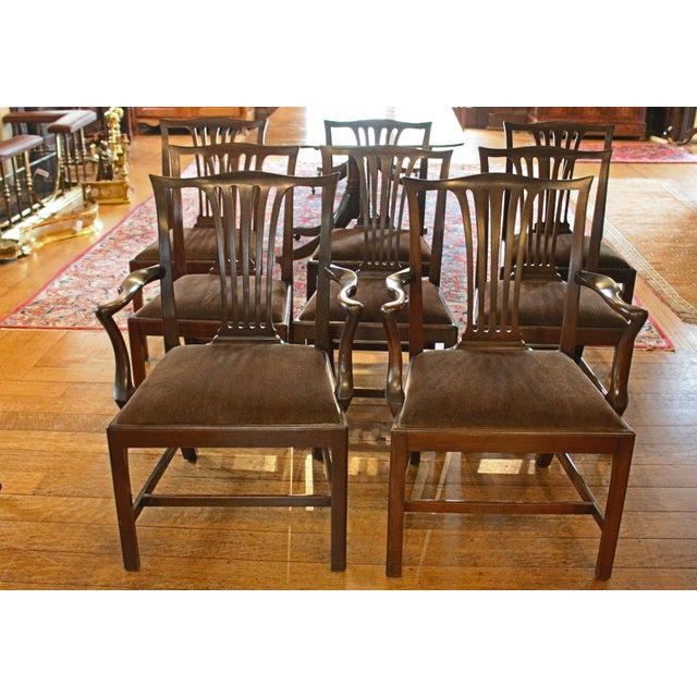 Dining Chippendale Style Chairs - Set of 8 For Sale - Image 10 of 10