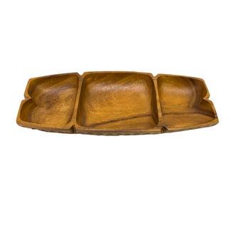 Vintage Monkey-Pod Wood Tray For Sale
