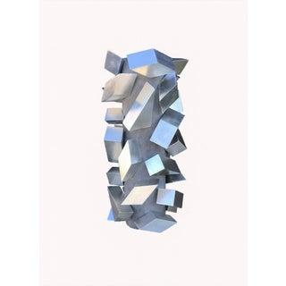 Cubist Silver Leaf Sculpture For Sale