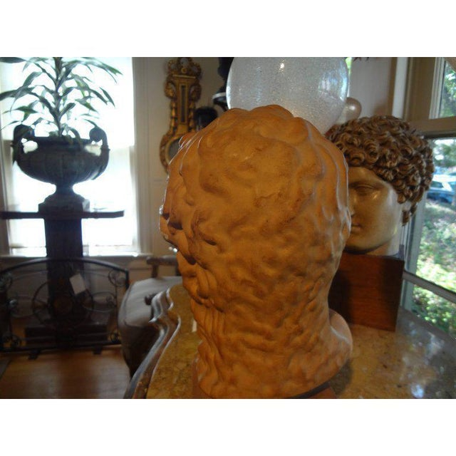 1920s 1920's Antique French Classical Inspired Terra Cotta Bust For Sale - Image 5 of 8