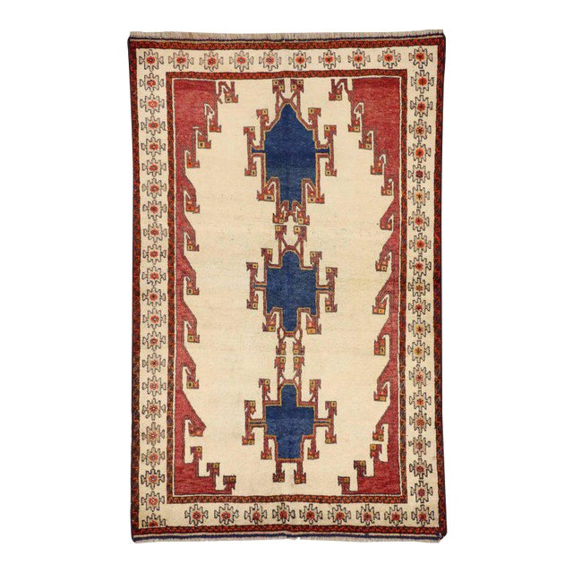 Vintage Shiraz Persian Rug with Modern Tribal Style For Sale