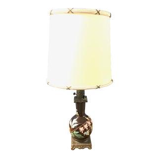 1940s Antique Porcelain Lamp For Sale