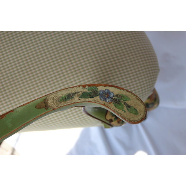 1920s Vintage Italian Venetian Hand Painted Fauteuil Arm Chair For Sale - Image 9 of 11
