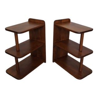 Pair of 1930's Art Deco End Tables For Sale