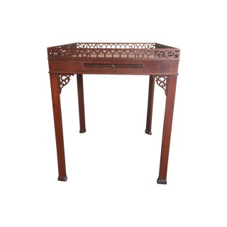 Chippendale-Style Wood Side Table