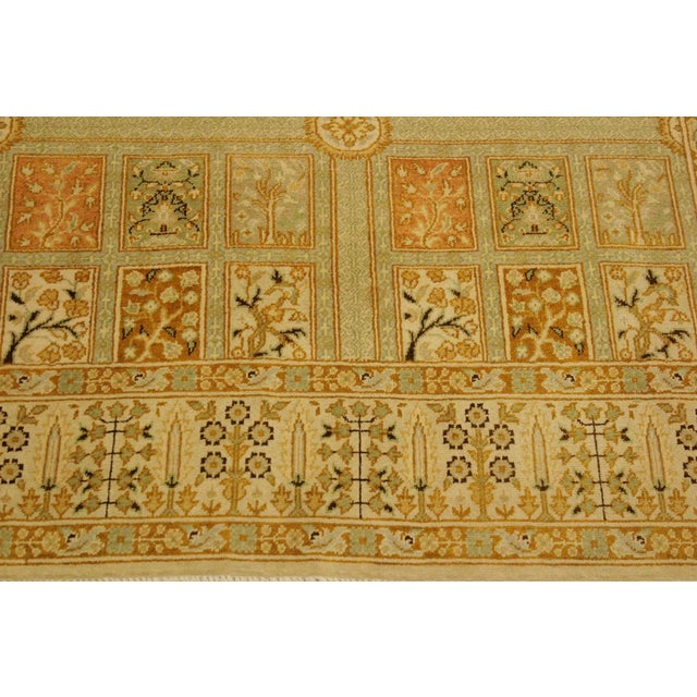 Istanbul Jerri Tan/Gold Turkish Hand-Knotted Rug -4'1 X 6'0 For Sale In New York - Image 6 of 8