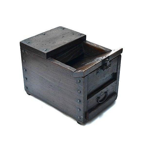 Antique Japanese Keyaki Money Box - Image 1 of 7