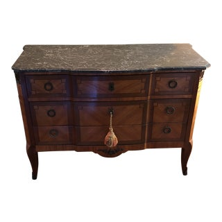 Antique Marble Top Dresser/ Chest of Drawers For Sale