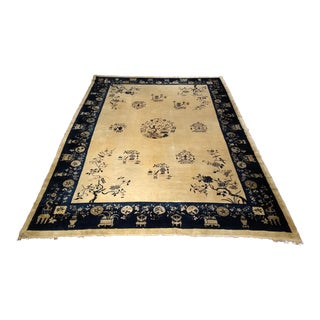 Early 1900s Chinese Peking Rug - 9′3″ × 12′4″ For Sale