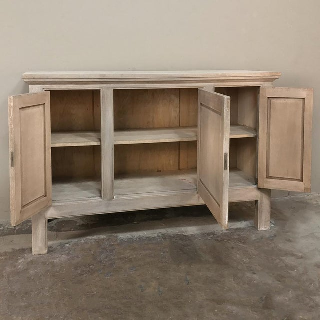 Buffet, Antique Gothic in Whitewashed Oak For Sale In Dallas - Image 6 of 13