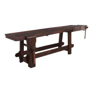 "French Country 19th Century Chestnut ""Etabli"" Carpenter's Workbench"