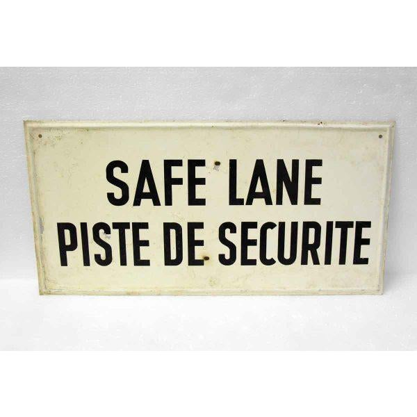 French 20th Century French Safe Lane Sign For Sale - Image 3 of 3
