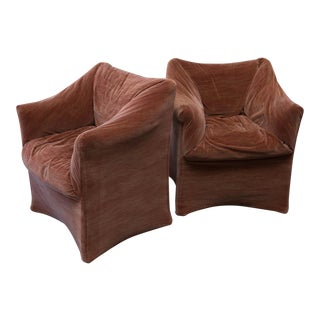 Pair of Mario Bellini Tentazione Lounge Chairs For Cassina