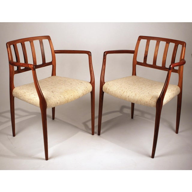 Wood Set of 10 Dining Chairs in East Indian Rosewood by Niels Otto Moller For Sale - Image 7 of 10