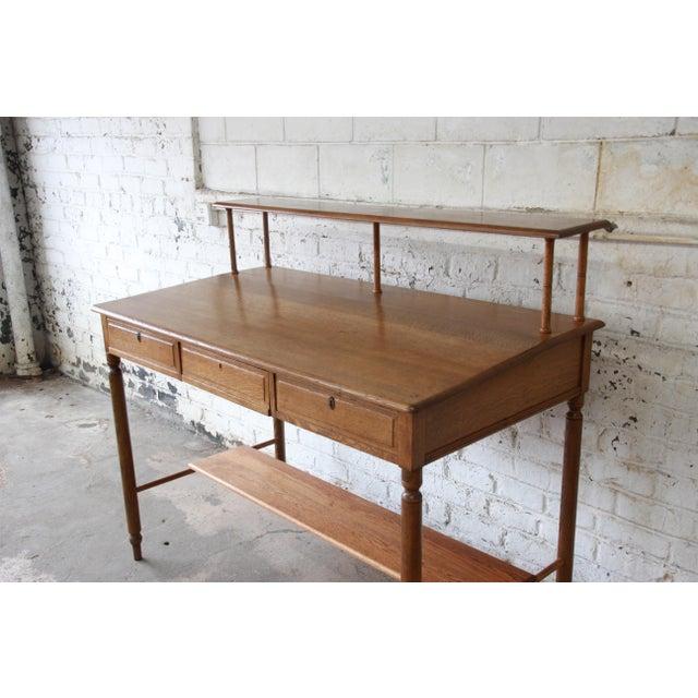 Antique Quarter Sawn Oak Railroad Standing Desk For Sale - Image 5 of 11 - Antique Quarter Sawn Oak Railroad Standing Desk Chairish