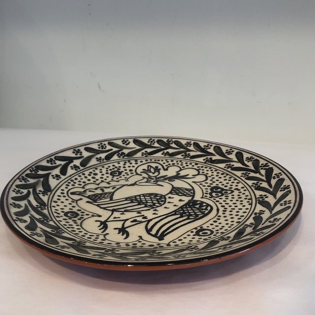 2010s Hand-Painted, Portuguese Plate For Sale - Image 5 of 8