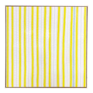 "Abstract John O'Hara ""Yellow Stripes"" Encaustic Painting For Sale"