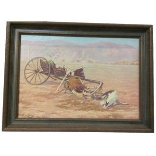 Antique Western Painting For Sale