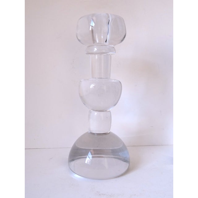 Scandinavian Glass Candle Sticks - A Pair - Image 3 of 7