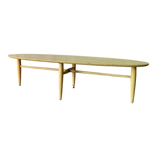 Mid Century Modern Elliptical Surfboard Coffee Table For Sale