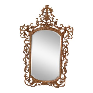Theodore Alexander French Style Paint Decorated Mirror For Sale