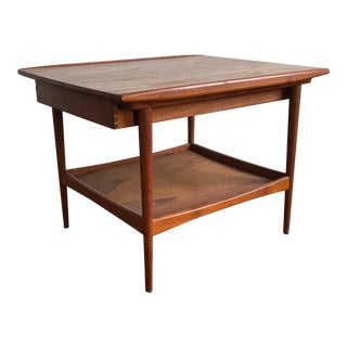 1960s Scandinavian Modern Moreddi Teak End Table For Sale