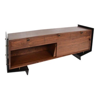 1/1 Custom Built Contemporary Sculptural Floating Credenza by Pablo Romo For Sale
