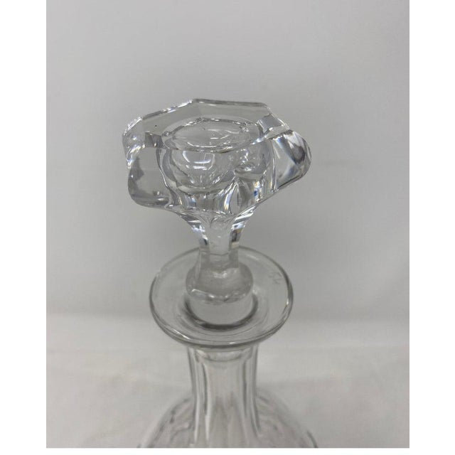 Antique French decanter with stopper, 19th century.