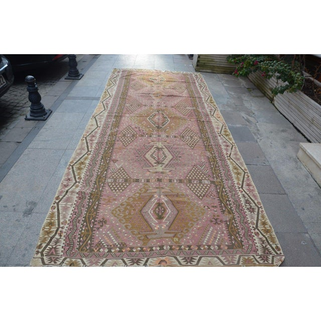 Oversize Turkish Antique Handwoven Kilim - 6′1″ × 12′9″ For Sale In Austin - Image 6 of 6